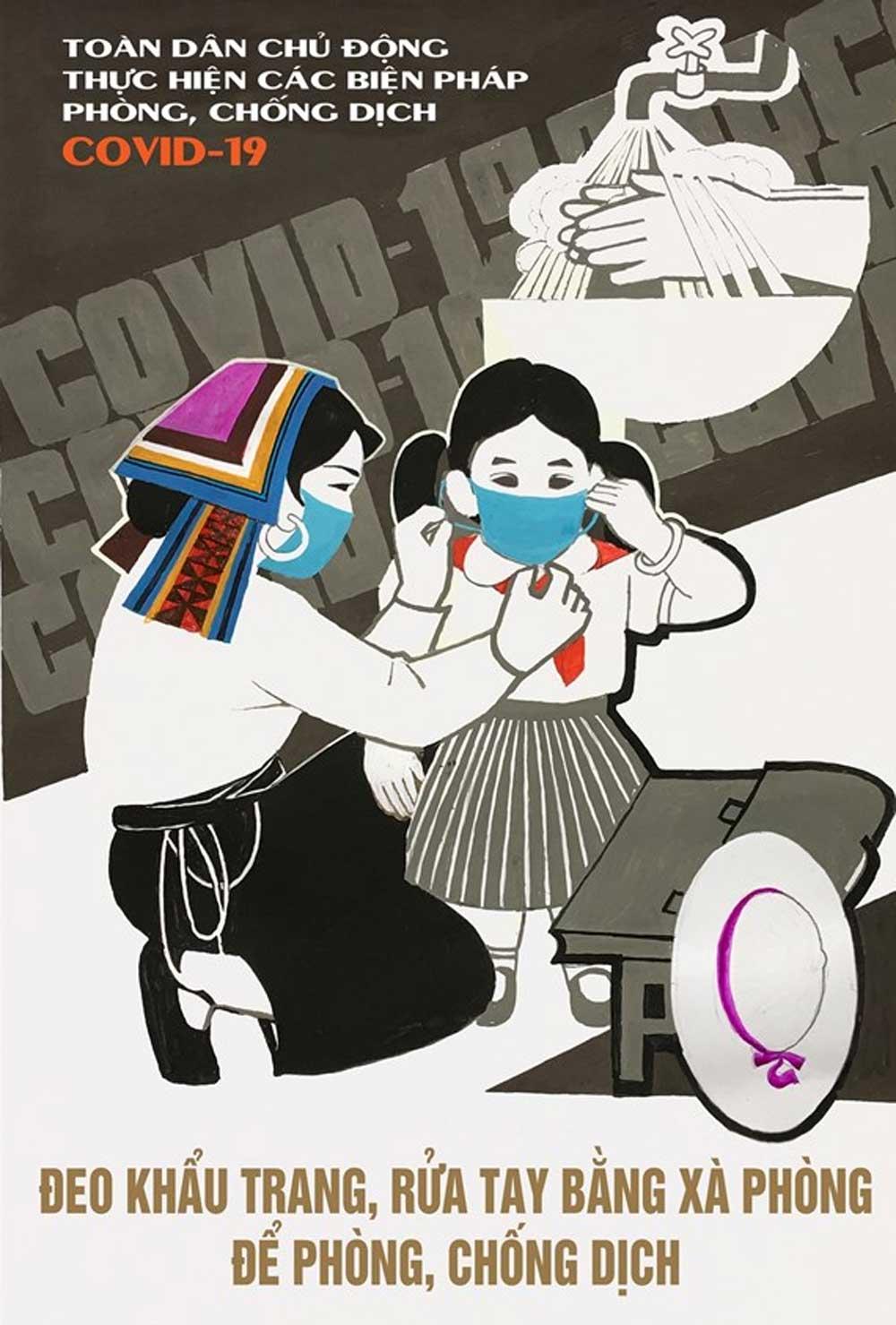 Họa sỹ Việt, vẽ tranh cổ động, phòng, chống dịch COVID-19, tinh thần trách nhiệm, nỗ lực vì cộng đồng