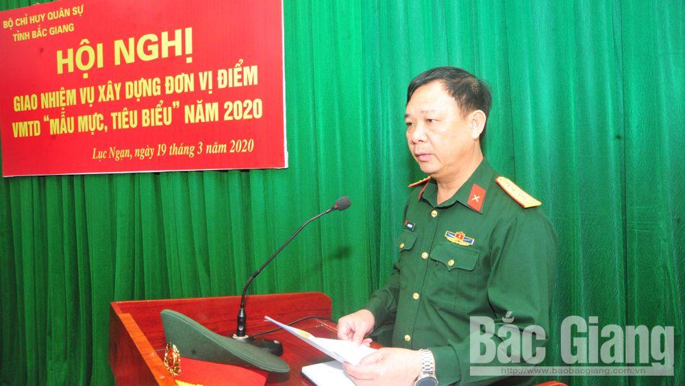 """Ban CHQS huyện Lục Ngạn: Xây dựng đơn vị điểm vững mạnh toàn diện """"mẫu mực, tiêu biểu"""""""