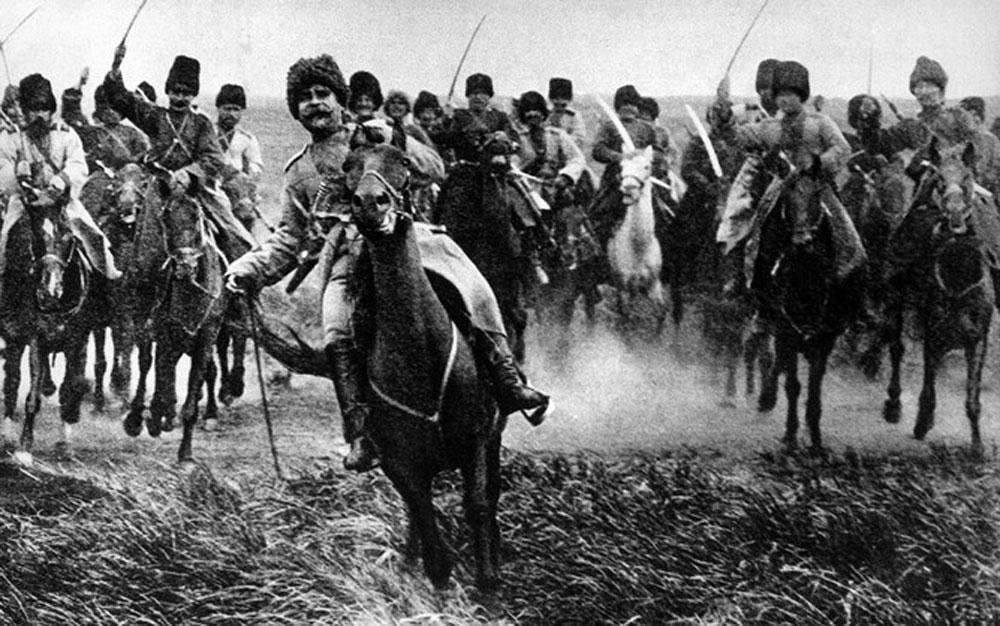 Lính Cozak, người Cozak, Nội chiến Nga, Thế chiến 2, kỵ binh Cozak