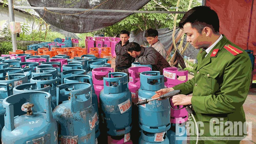Tân Yên, Bắc Giang, sang chiết gas, gas, trái phép.