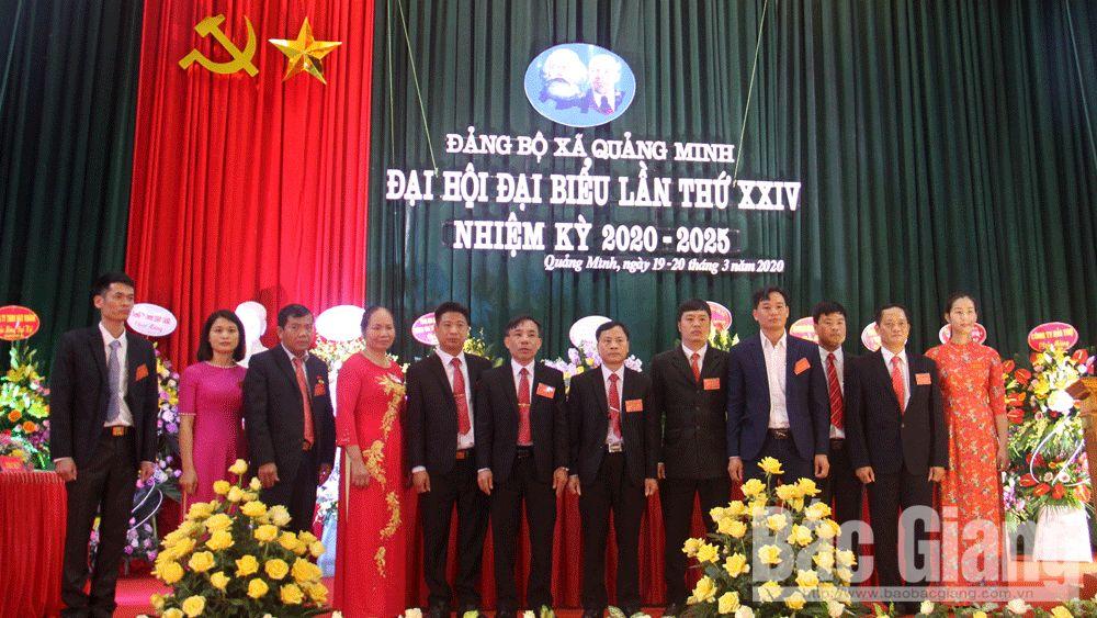 Đảng bộ xã Quảng Minh tổ chức thành công đại hội điểm nhiệm kỳ 2020-2025