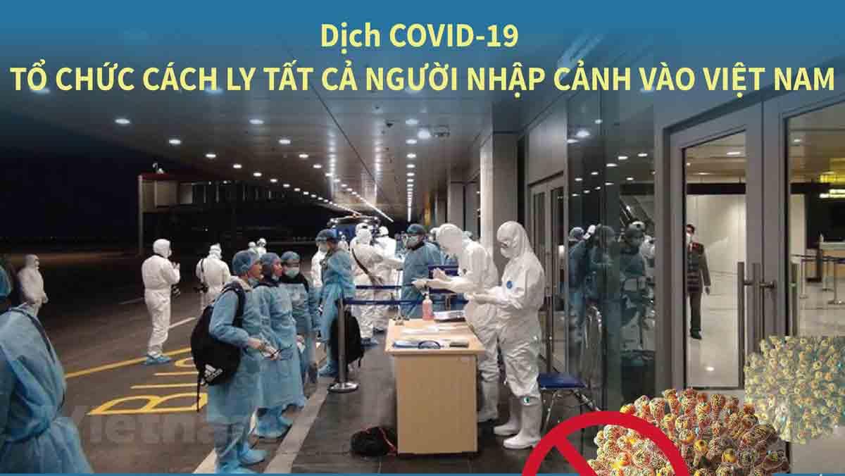 Dịch Covid-19: Tổ chức cách ly tất cả người nhập cảnh vào Việt Nam từ 0 giờ 00 ngày 21/3/2020