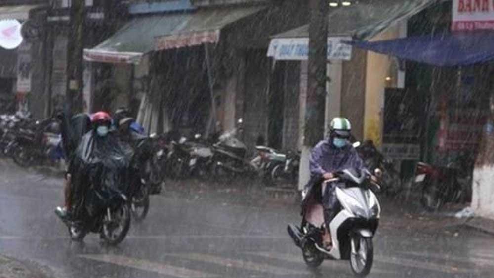 Bắc Bộ, mưa rào và dông, mưa rất to, dông lốc, mưa đá, gió giật mạnh, dự báo thời tiết