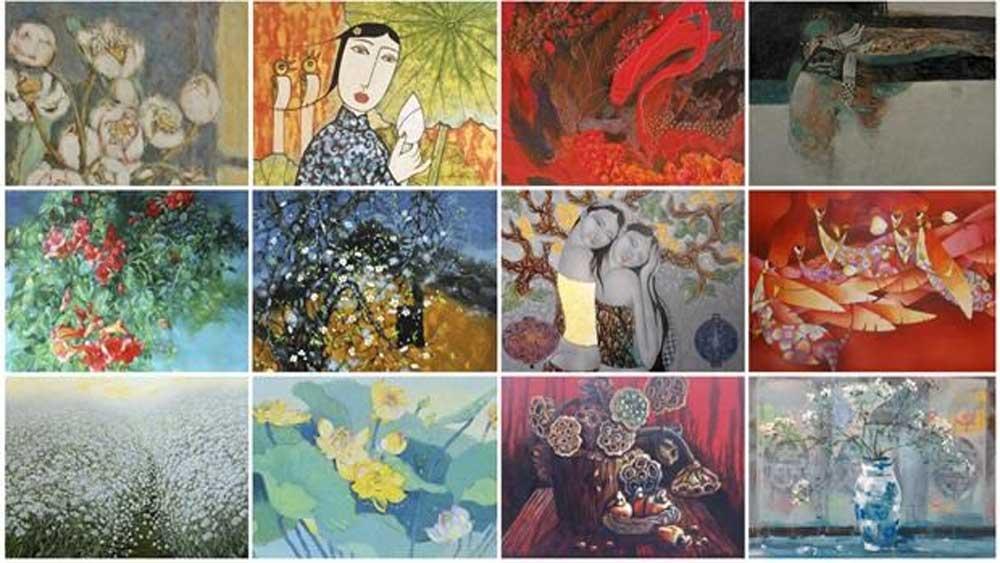 Online art auction, raises funds, fight Covid-19, Viet Art Exchange Facebook, Covid-19 pandemic, Iris Pham