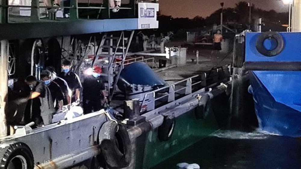 Cháy tàu dầu, sông Đồng Nai, hai người chết, một người mất tích, phong toả hiện trường, tìm kiếm người mất tích