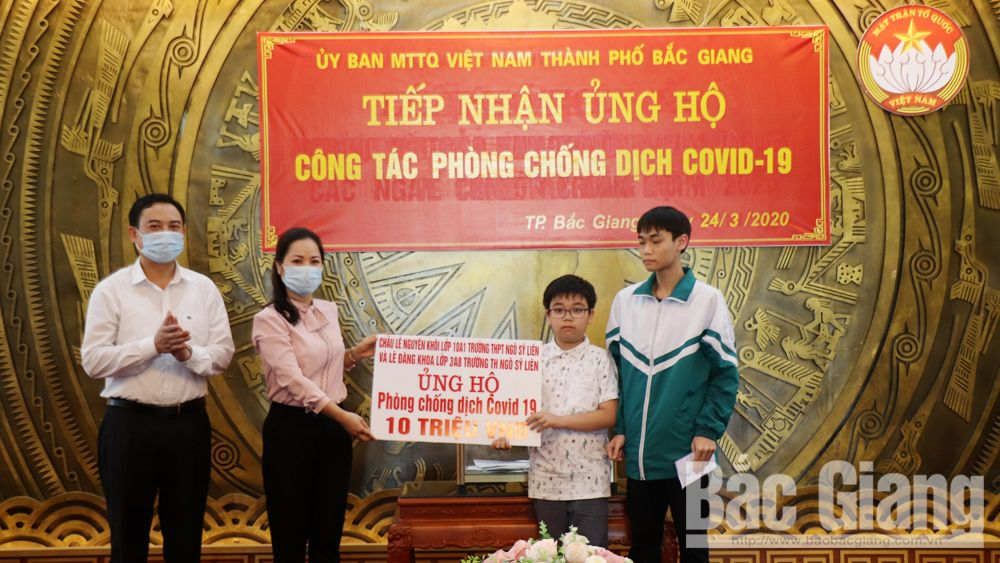 Bac Giang province, donate to fight Covid-19, Fatherland Front Committee,  Covid-19 prevention and control, medical equipment and materials, face mask