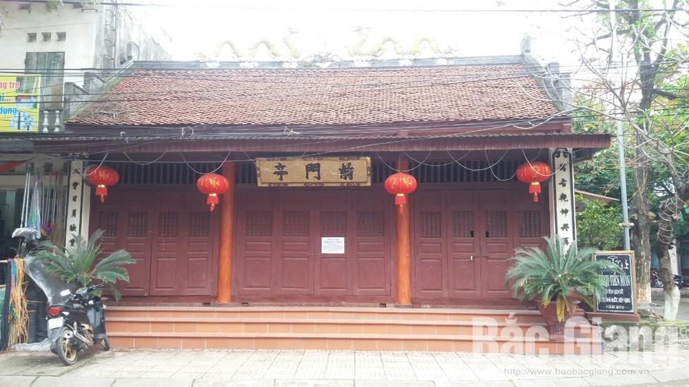 Đình Tiền Môn (TP Bắc Giang) đóng cửa để phòng dịch.