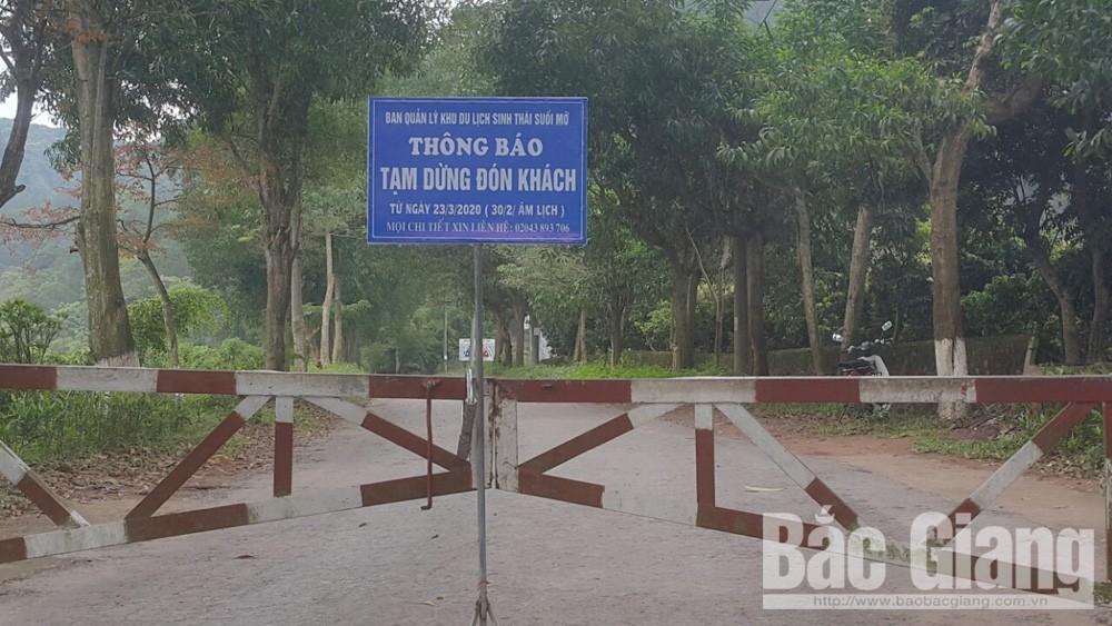 Khu Du du lịch sinh thái Suối Mỡ (Lục Nam) thông báo tạm dừng đón khách.