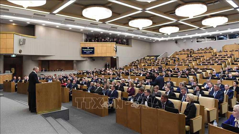 Tổng thống Nga Vladimir Putin, hoãn trưng cầu ý dân, sửa đổi Hiến pháp, dịch viêm đường hô hấp cấp, COVID-19, virus Corona, nhiễm SARS-CoV-2, Tổng thống Putin, tranh cử