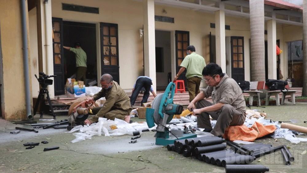 Bắc Giang: Tiêu hủy hơn 1 nghìn sản phẩm hàng hóa vi phạm hành chính