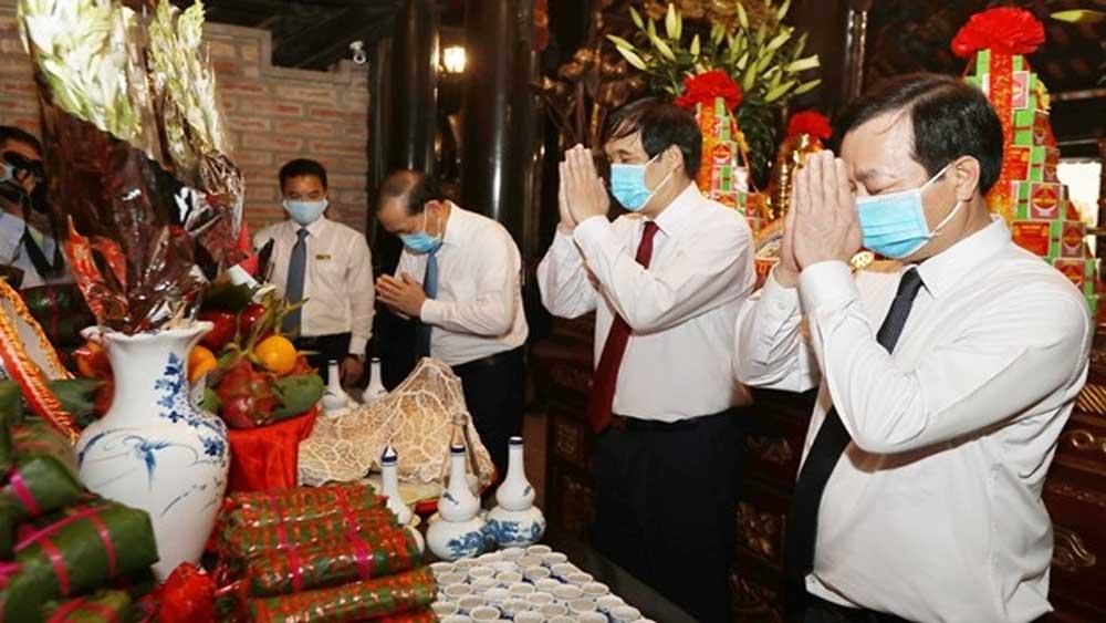 Legendary ancestors, Vietnam, Father Lac Long Quan, Mother Au Co, Hung Kings relic site, Covid-19 pandemic