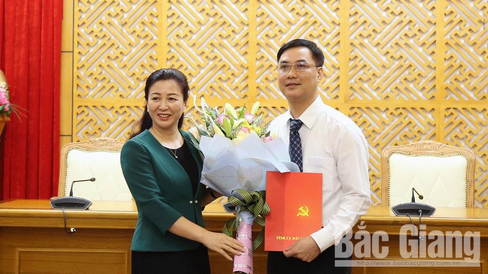 Bắc Giang: Đồng chí Nguyễn Mạnh Hùng được bổ nhiệm giữ chức Phó Chánh Văn phòng Tỉnh ủy