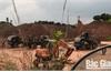 Khai thác đất san lấp mặt bằng trái phép tại xã Trù Hựu (Lục Ngạn)
