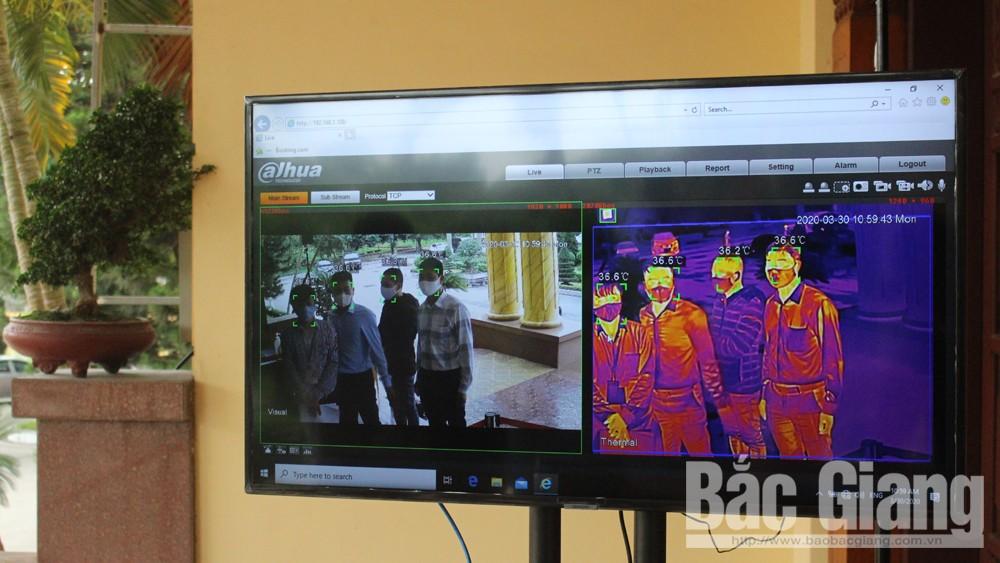 Bắc Giang: Lắp đặt camera đo thân nhiệt từ xa phòng dịch Covid-19