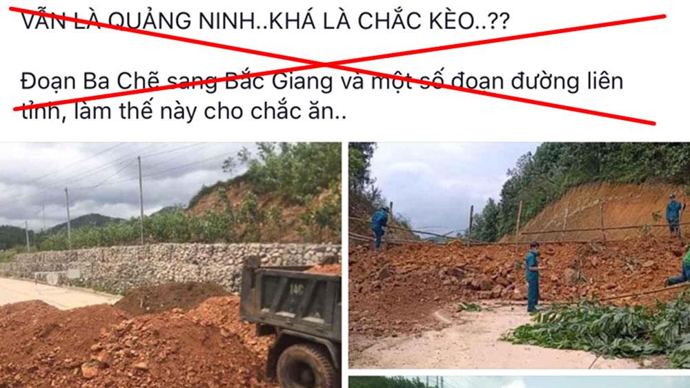 Không có việc, chặn đường, từ Bắc Giang, sang Quảnh Ninh