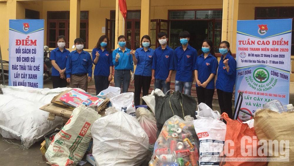 Yên Dũng: Thu hơn 3 tấn rác thải tái chế trong Tháng Thanh niên năm 2020