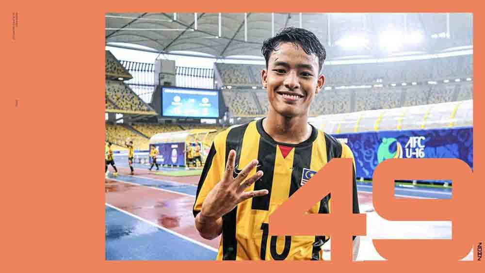 """""""Thần đồng"""" bóng đá Malaysia lọt top 50 cầu thủ trẻ hay nhất thế giới"""