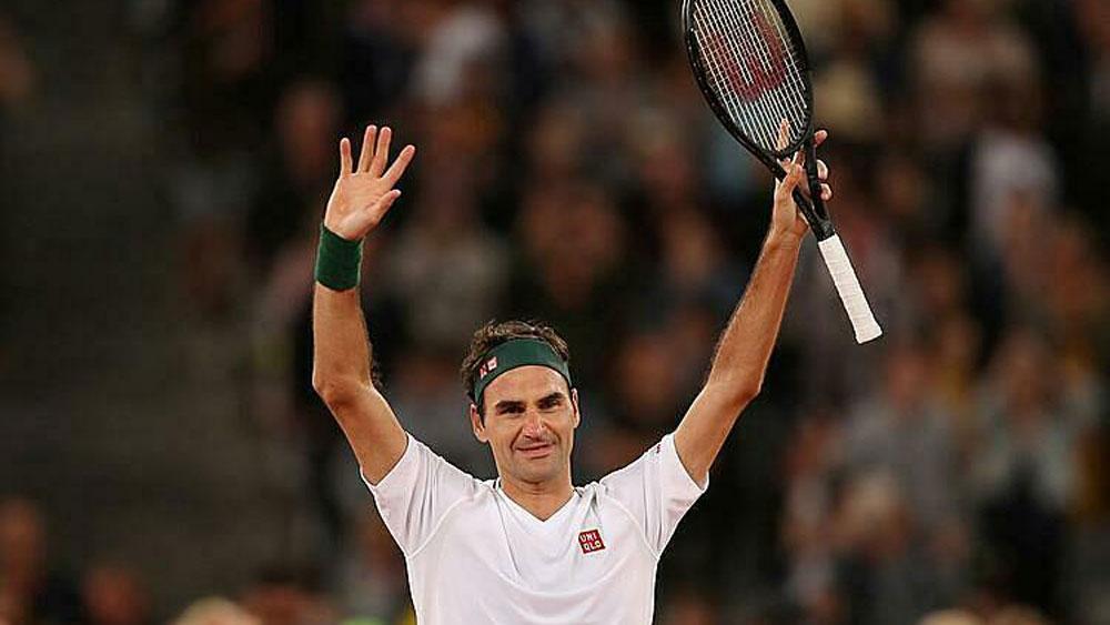Federer biểu diễn dưới tuyết