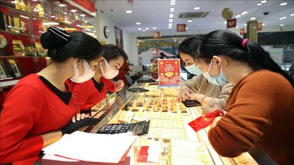 Giá vàng, trong nước, tăng 200.000 đồng/lượng, tăng mạnh theo giá vàng thế giới, vàng SJC, dịch Covid-19