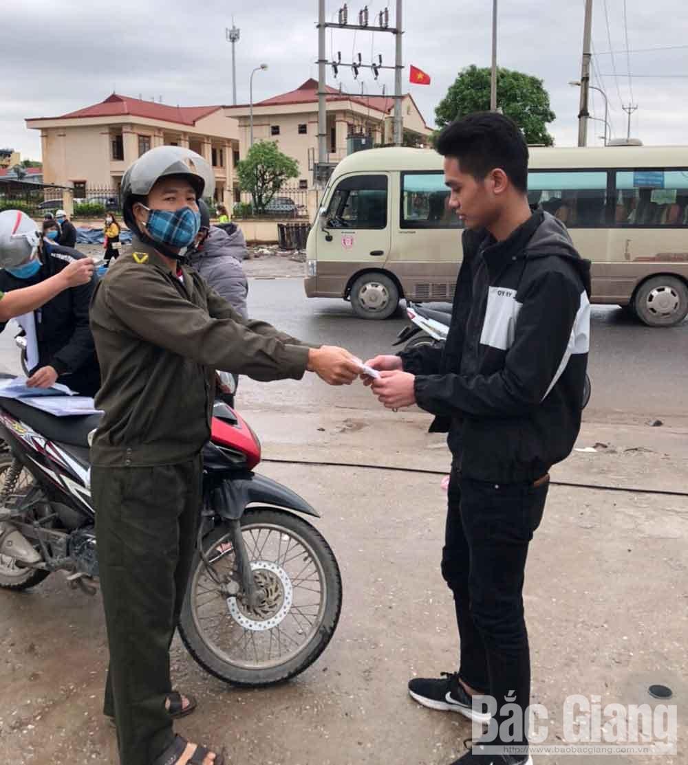 Covid-19, TP Bắc Giang, Bắc Giang, không đeo khẩu trang