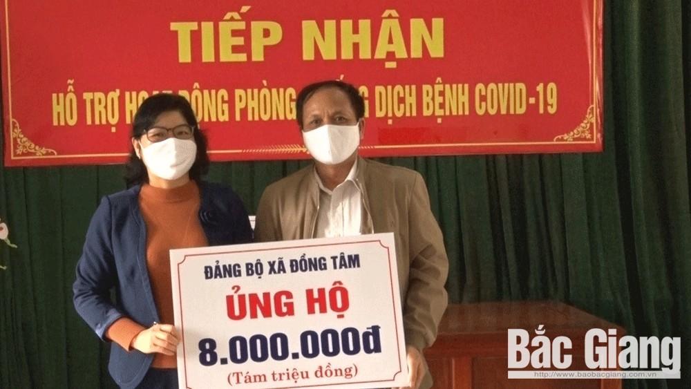 Ủy ban MTTQ huyện Yên Thế  tiếp nhận ủng hộ phòng, chống dịch Covid-19