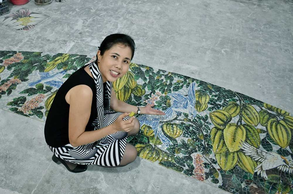 Unique ceramic tree house, Bat Trang village, intense work, finishing line, Cuong Duyen Ceramics Showroom, International A' Design Awards, Artist Nguyen Thu Thuy