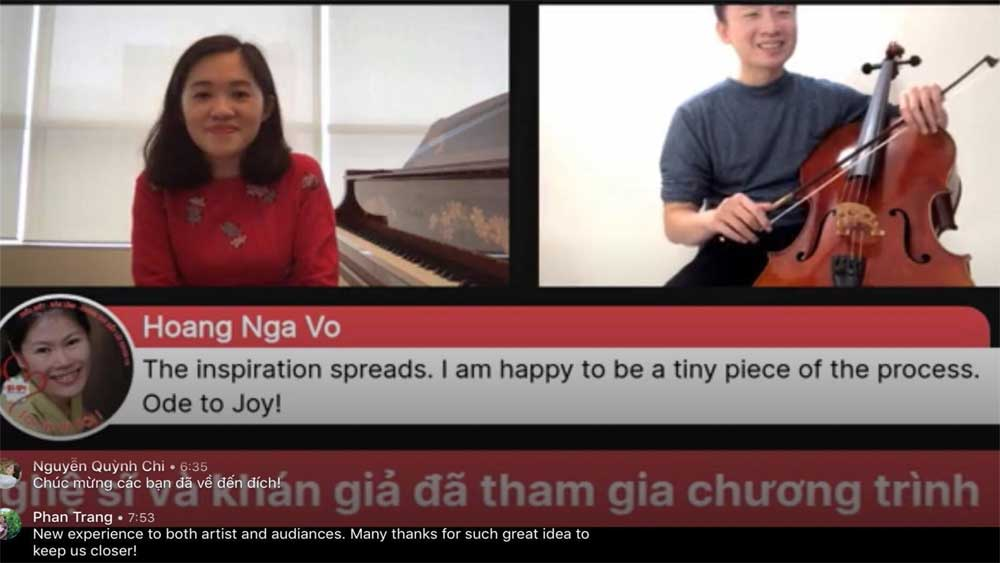 Message, sharing and connection, music, Stay at home,  Vietnamese artists, online project, 24-hour music marathon, Covid-19 pandemic
