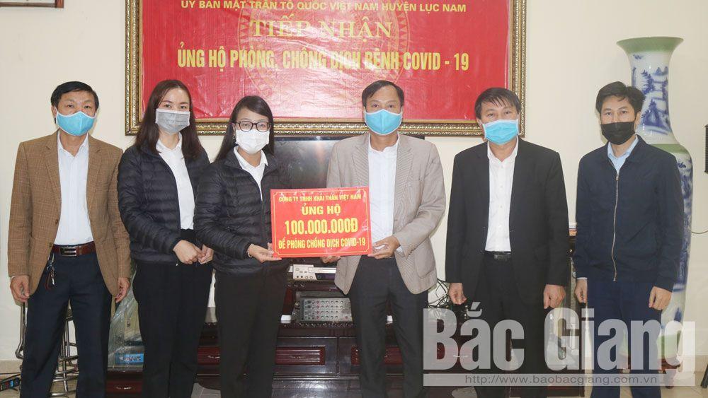 Lục Nam: Tiếp nhận ủng hộ công tác phòng, chống dịch Covid-19