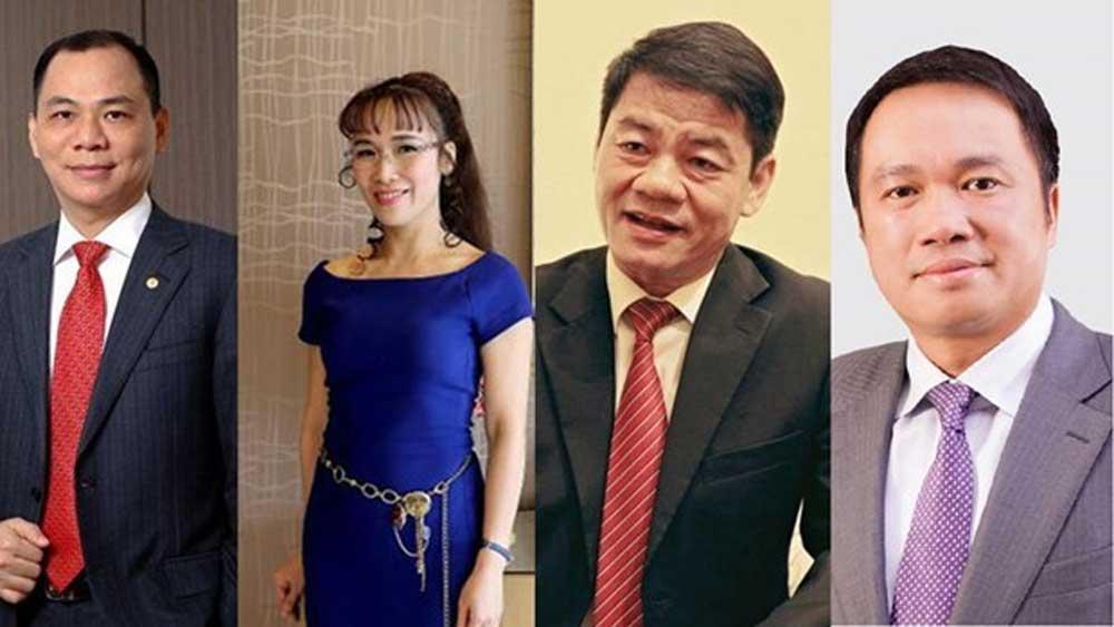 Four Vietnamese billionaires, Forbes 2020 rich list, Vietnamese entrepreneurs, world's richest people, Forbes' billionaire list