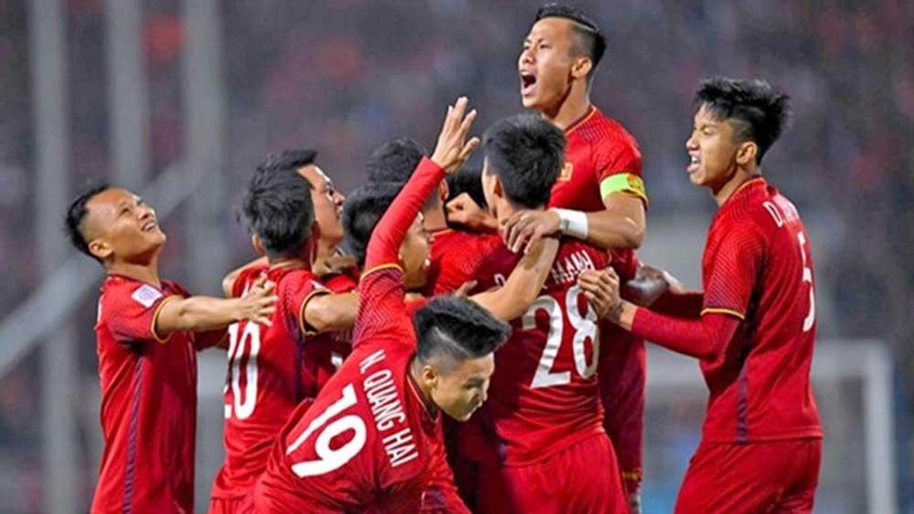 Vietnam national team in top 15 in Asia