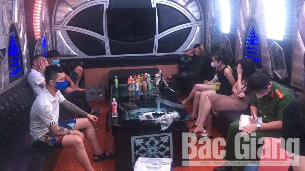 Bắc Giang: Một quán hát bị phát hiện có khách sử dụng ma túy trong thời gian cách ly xã hội