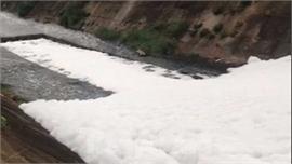 Tìm ra nguyên nhân khiến hàng loạt kênh, suối ở Bình Dương bị phủ 'tuyết trắng'