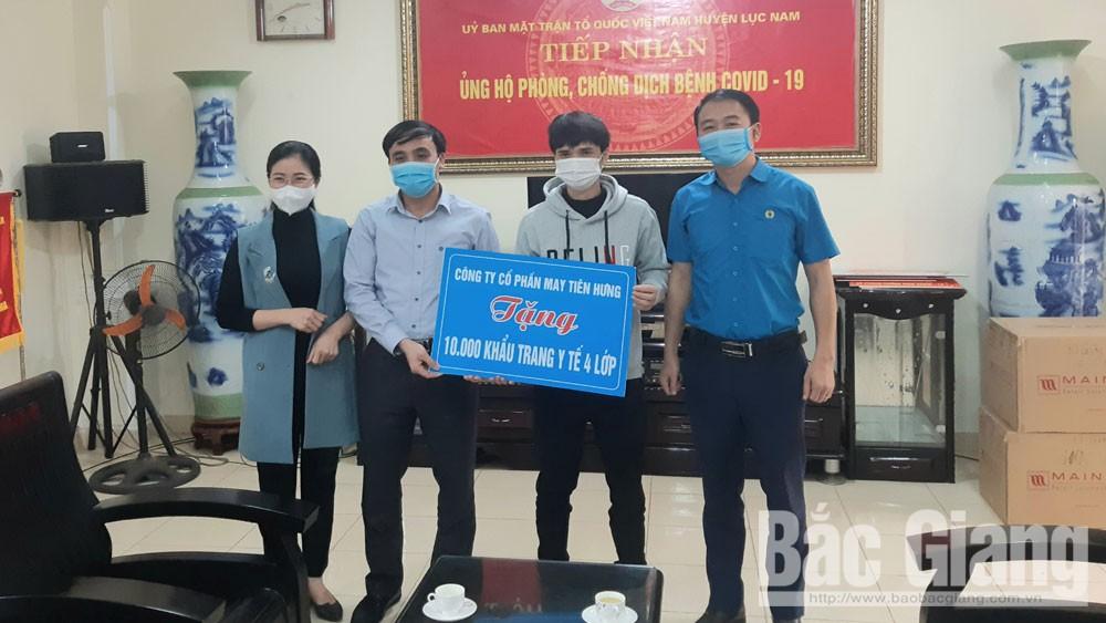 Lục Nam tiếp nhận 1,3 tỷ đồng tiền, hiện vật hỗ trợ phòng, chống dịch Covid-19