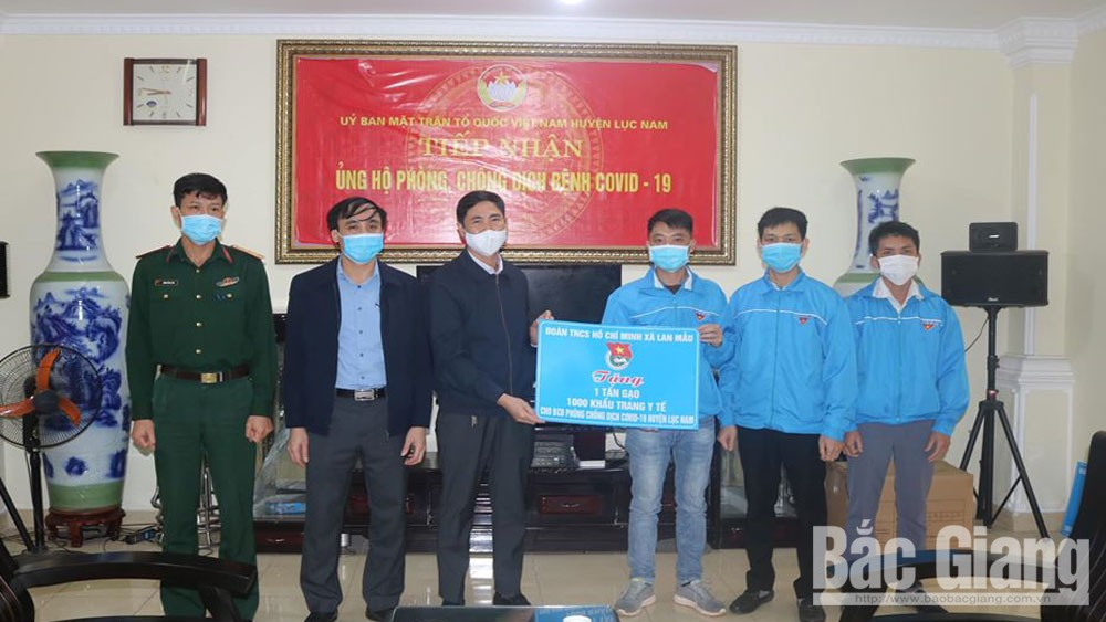 Blue-shirt volunteers, Bac Giang province, join hands, fight Covid-19, voluntary works, practical contributions, fight against Covid-19