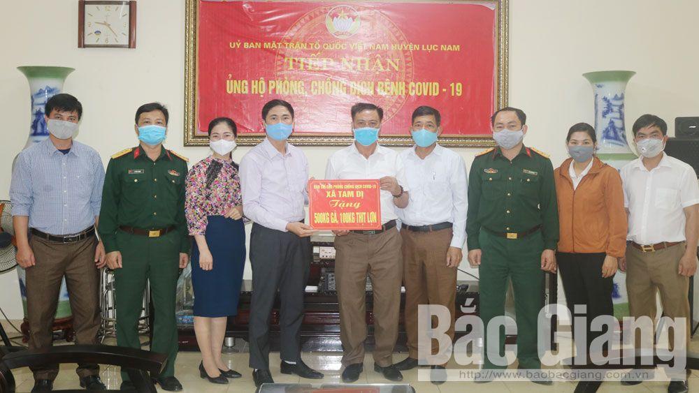 Lục Nam: Tiếp nhận gần 1 tỷ đồng ủng hộ công tác phòng, chống dịch Covid-19