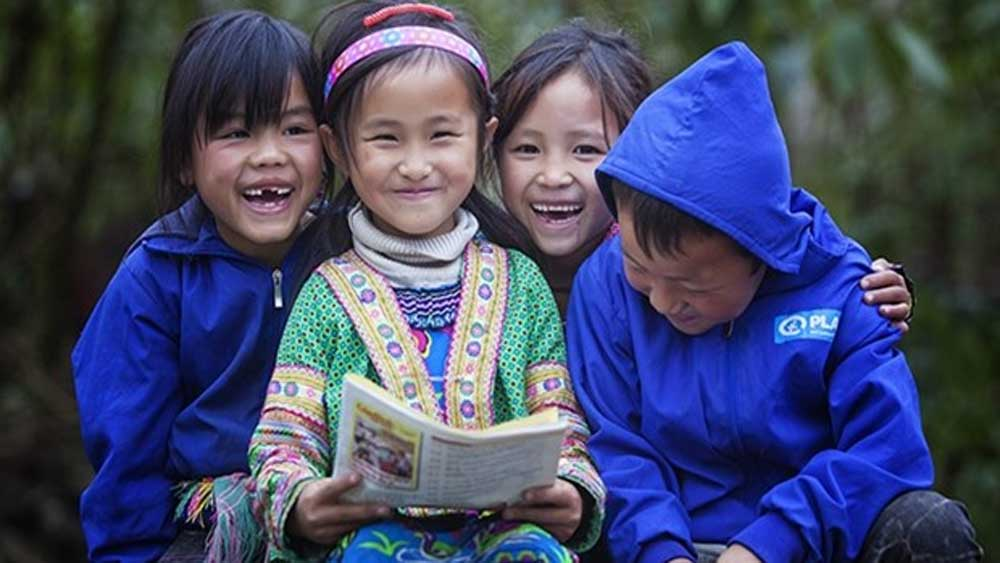 Plan Int'l Vietnam,  begins project, support ethnic minority children, Covid-19, disadvantaged people, extensive publicity campaign,  living conditions