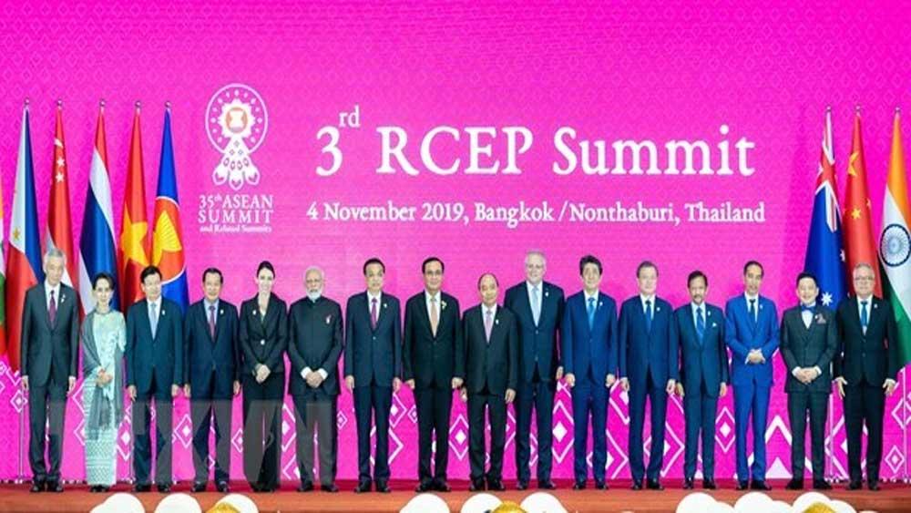 Extra efforts, sign RCEP,  Vietnam, late 2020, Regional Comprehensive Economic Partnership, dialogue partners, ASEAN Summit in Vietnam,  Covid-19 pandemic