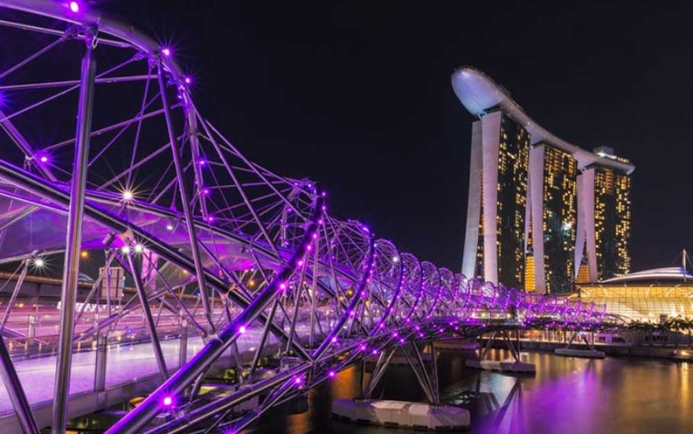 Cầu Helix ở Singapore.