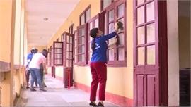Ngày đầu tiên học sinh THCS, THPT ở Thanh Hóa đi học trở lại