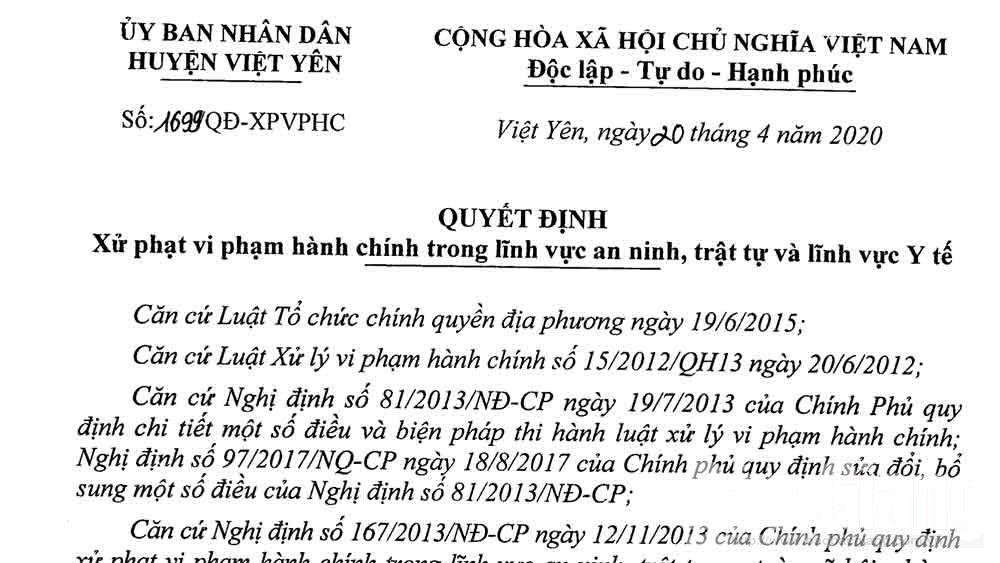 Dùng nhà ở chứa bạc, một đối tượng ở Bắc Giang bị phạt 15 triệu đồng