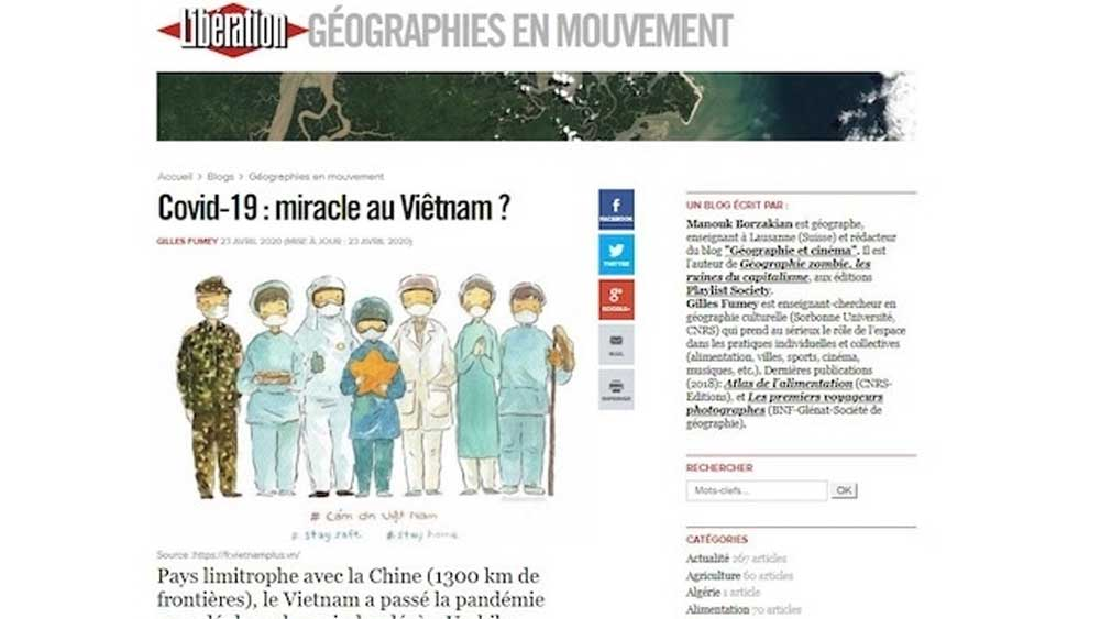 French press continues to praise Vietnam's success in fighting Covid-19