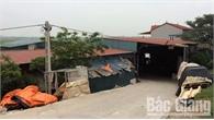 Cơ sở thu mua phế liệu ở xã Đồng Phúc (Yên Dũng) sai phạm về sử dụng đất đai, bảo vệ môi trường