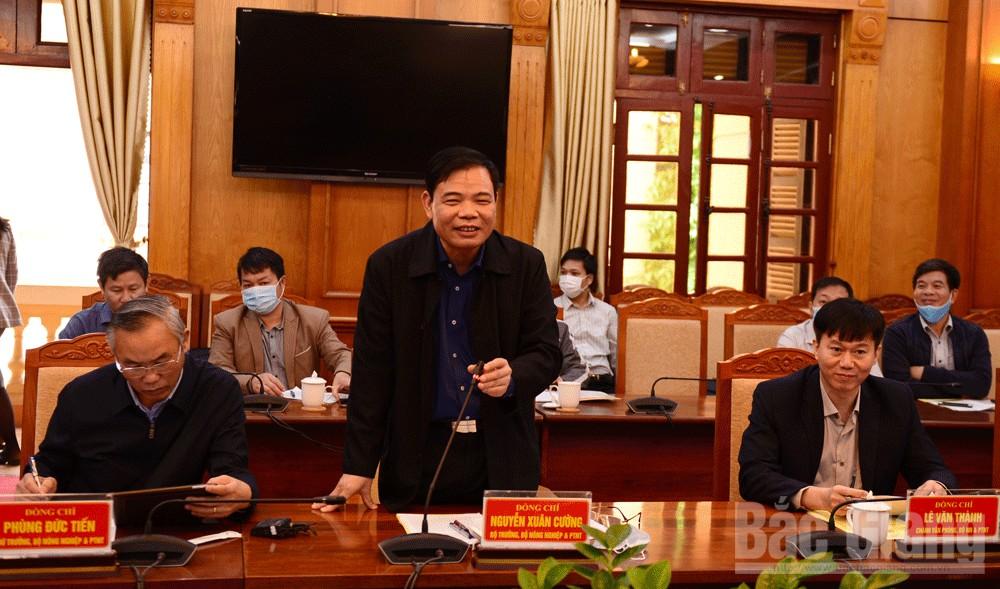 Bộ trưởng Nguyễn Xuân Cường phát biểu tại hội nghị.