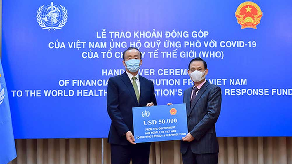 Vietnam donates $50,000 to WHO for Covid-19 fight