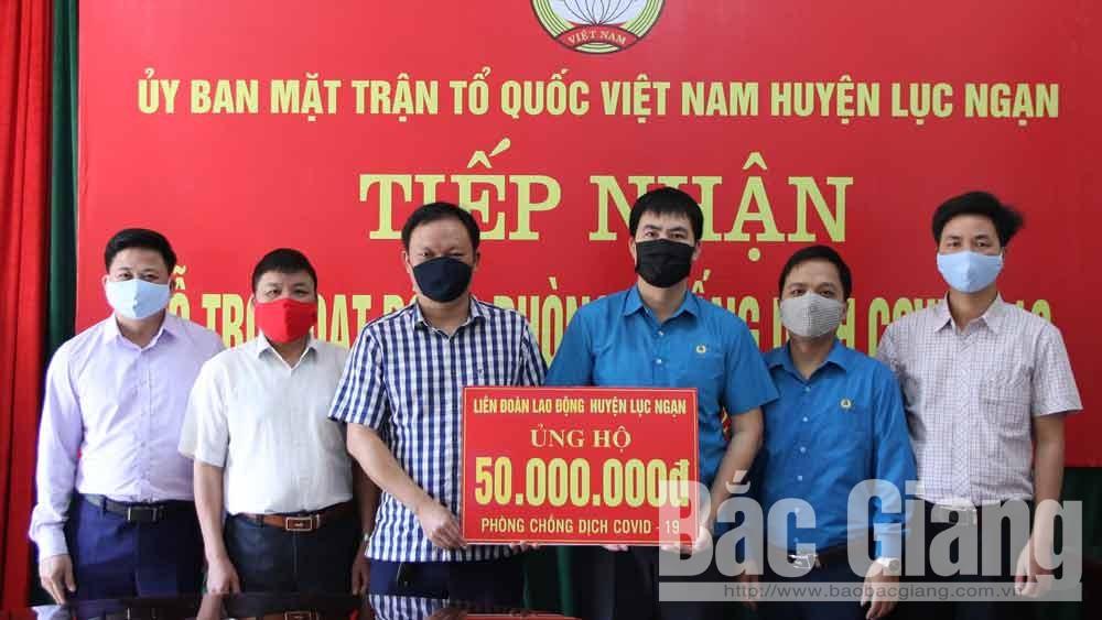 Cán bộ, công nhân, viên chức huyện Lục Ngạn ủng hộ quỹ phòng, chống dịch Covid-19