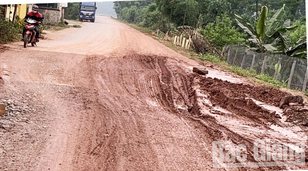 Lạng Giang: Vướng mặt bằng, hơn 200 m đường huyện chưa thể thi công