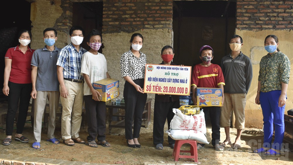 cải tạo nhà ở; hội viên nông dân; huyện Tân Yên, Bắc Giang.