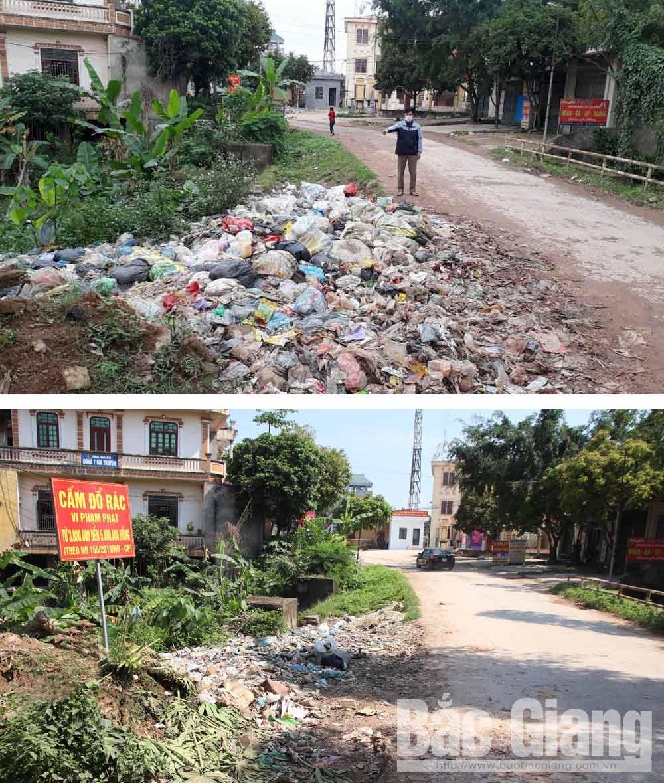 Lục Ngạn, rác thải, ô nhiễm