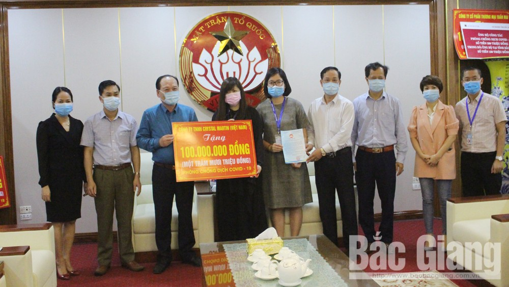 Many organizations support Bac Giang province to fight against Covid-19 pandemic