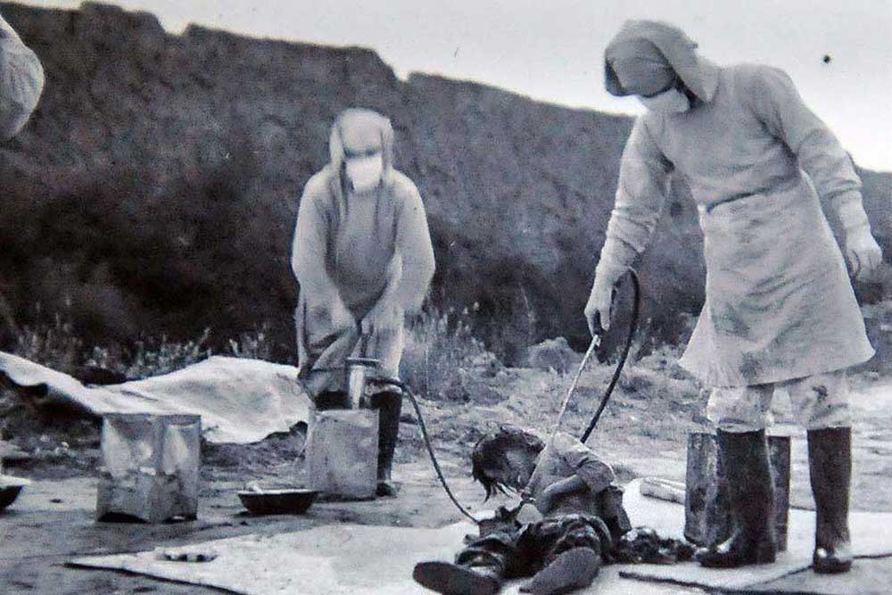 Chiến tranh, vi trùng, vũ khí sinh học, bom dịch hạch, dịch hạch, thế chiến 2, phát xít nhật, đơn vị 731